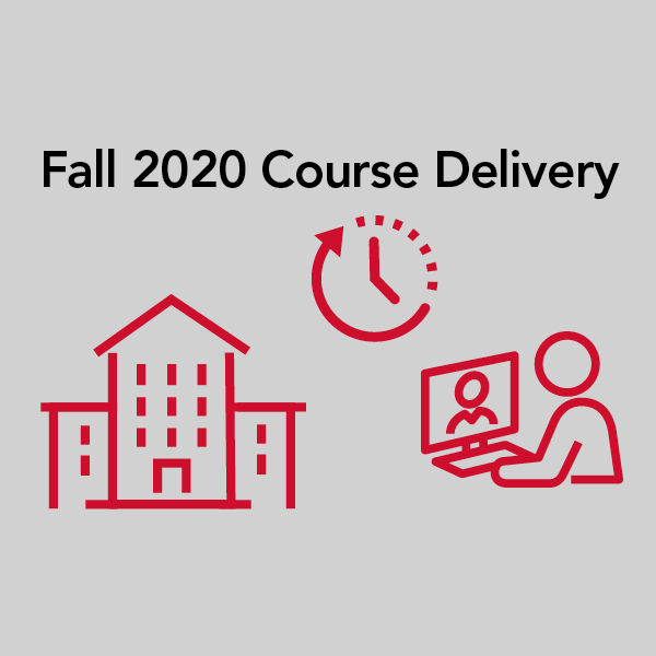 Fall 2020 Course Delivery graphic