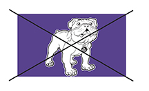 Bulldog Mascot Logo Mistake Purple