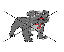 Bulldog Mascot Logo Mistake Stretched